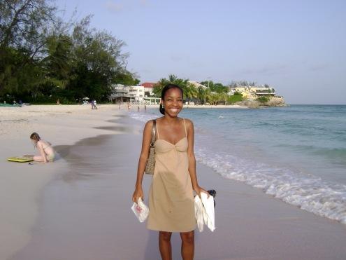 Kaylan in Barbados in 2007