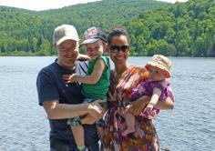 Family picture Saint Agathe Quebec (Copy)