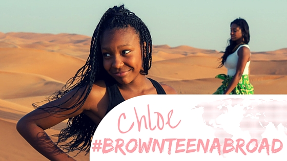 Brown Teen Abroad: Chloe